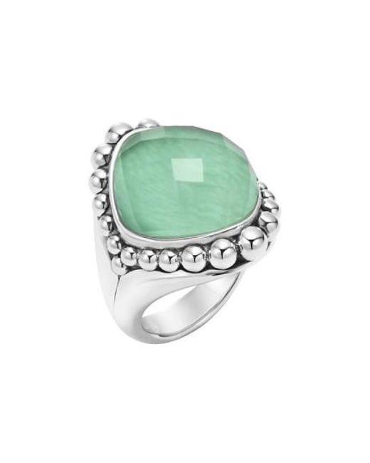 Lagos | Green Maya Stone Ring | Lyst