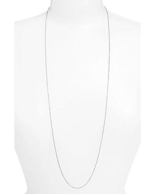 Argento Vivo | Metallic Long Ball Chain Necklace | Lyst