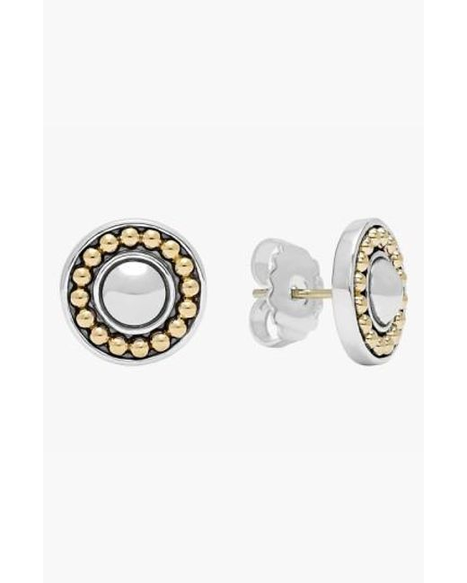 Lagos | Metallic 'enso' Two-tone Stud Earrings | Lyst