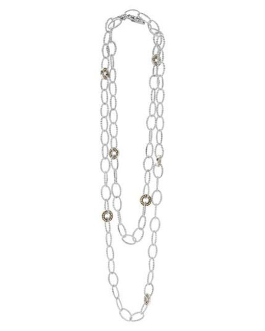 Lagos | Metallic 'enso' Long Station Necklace | Lyst