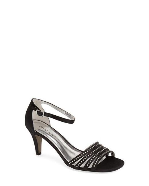 David Tate | Black 'terra' Ankle Strap Sandal | Lyst