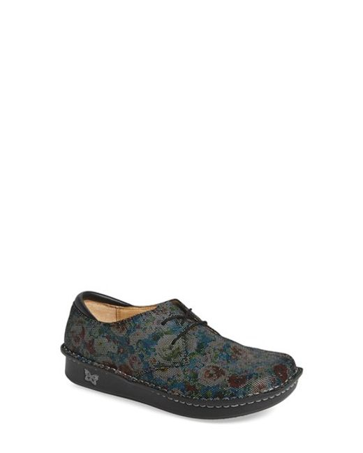 Alegria | Multicolor 'bree' Leather Lace-up Flat | Lyst