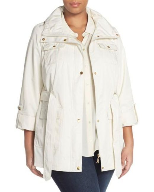 Ellen Tracy | Natural Short Techno Trench Coat | Lyst