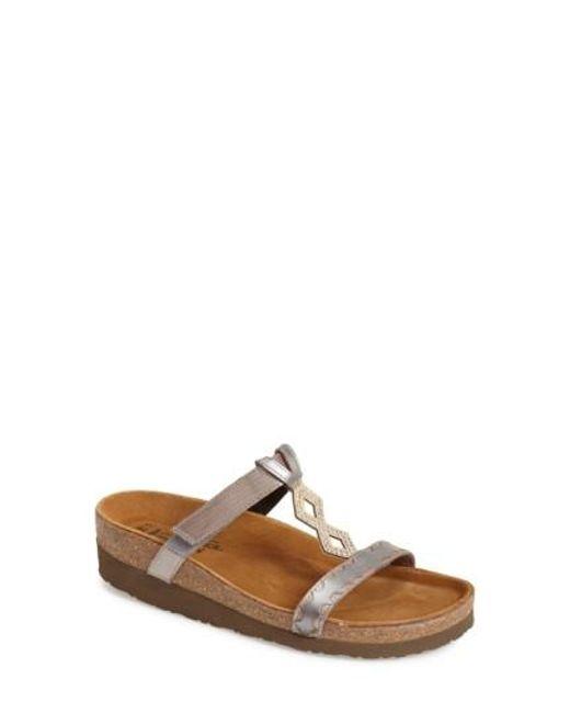 Naot   Metallic Embellished Walking Sandal   Lyst