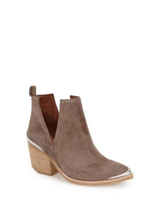 Jeffrey Campbell | Brown Cromwell Cut-Out Suede Western Boots | Lyst