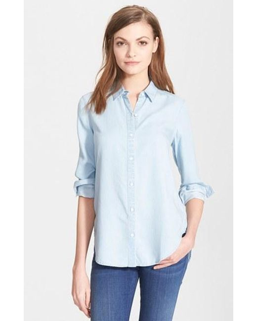 Ayr   Blue 'the Clean' Shirt   Lyst