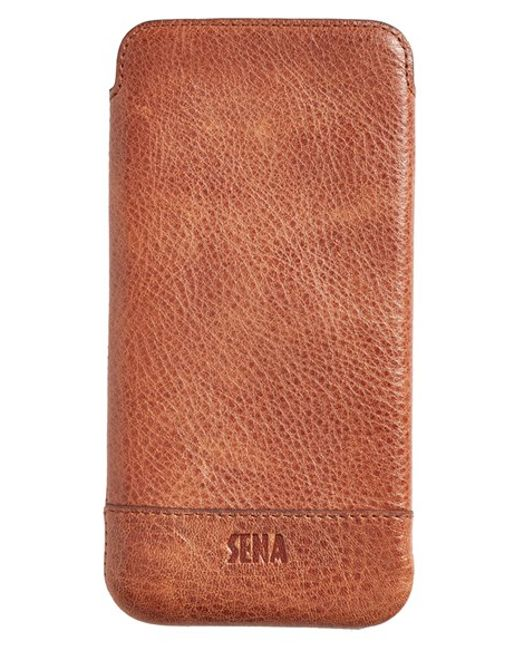 Sena | Brown 'Heritage - Ultra Slim' Leather Iphone 6 Plus Pouch for Men | Lyst