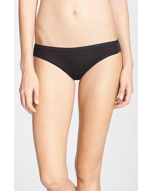 On Gossamer | Black Mesh Bikini Bottoms | Lyst