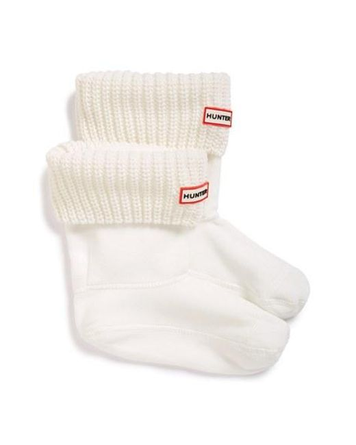 Hunter | White 'half Cardigan' Fleece Boot Socks | Lyst