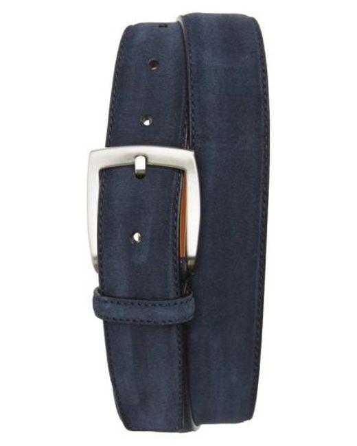 Magnanni Shoes   Blue Crosta Suede Belt for Men   Lyst