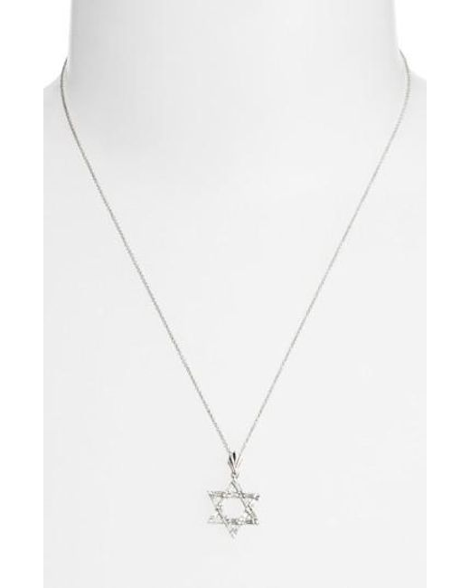 Bony Levy | White Diamond Star Of David Pendant Necklace (nordstrom Exclusive) | Lyst