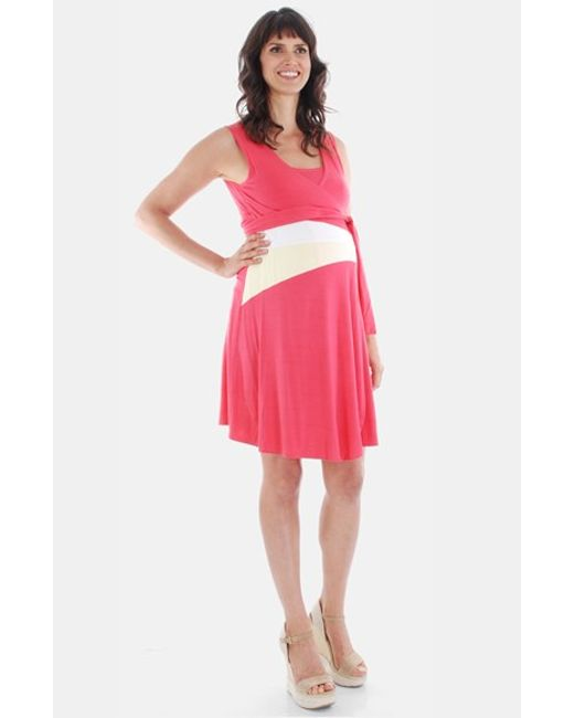 Everly Grey | Pink 'claire - During & After' Sleeveless Maternity/nursing Dress | Lyst