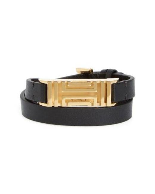 Tory Burch | Black For Fitbit Leather Wrap Bracelet | Lyst