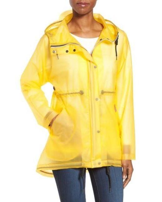 Hunter | Yellow 'original Smock' Hooded Drawstring Waterproof Jacket | Lyst