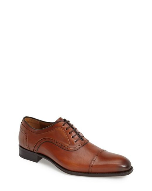 Mezlan | Brown 'march' Cap Toe Oxford for Men | Lyst