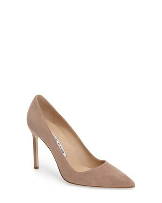 Manolo Blahnik - Multicolor BB Suede Pump - Lyst