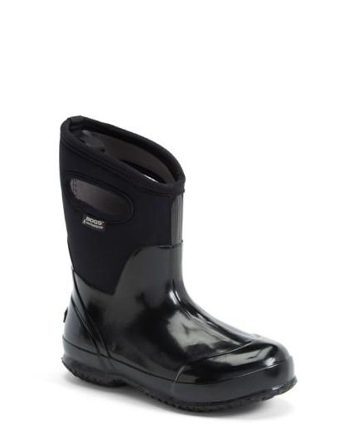 Bogs | Black 'classic' Mid High Waterproof Snow Boot With Cutout Handles | Lyst