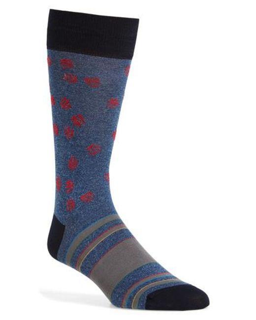 Bugatchi | Blue Cotton Blend Socks for Men | Lyst