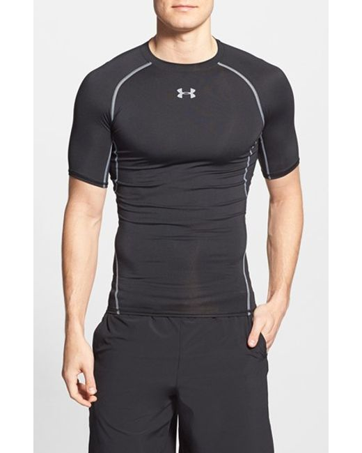 Under Armour | Black Heatgear Compression Fit T-shirt for Men | Lyst