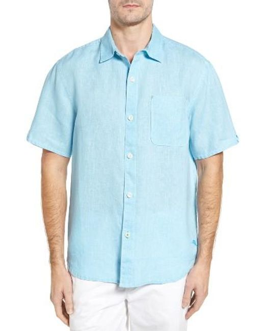 Tommy Bahama | White 'seaglass Breezer' Short Sleeve Linen Sport Shirt for Men | Lyst