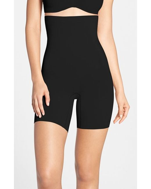 Spanx | Black Spanx 'oncore' High Waist Mid Thigh Shaper | Lyst
