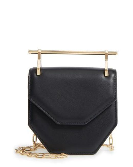 M2malletier | Black Mini Amor Fati Single Calfskin Leather Shoulder Bag | Lyst
