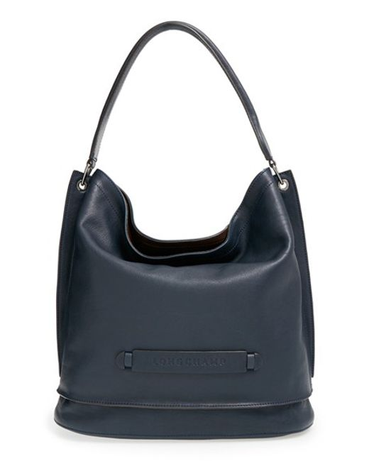 Longchamp | Blue '3D' Leather Hobo | Lyst