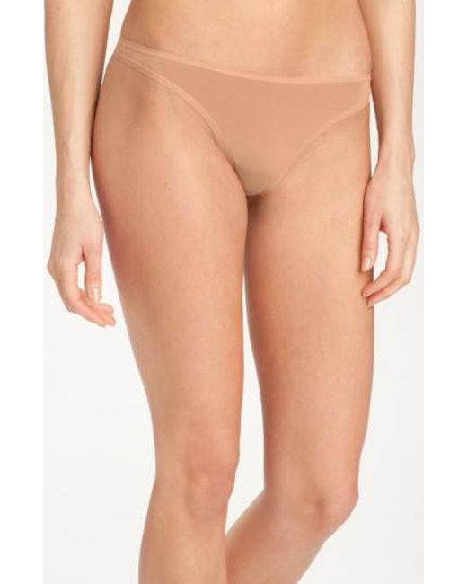 Felina - Brown 'sublime' Thong - Lyst