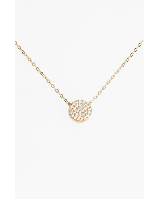 Nadri | Metallic 'geo' Small Pendant Necklace | Lyst