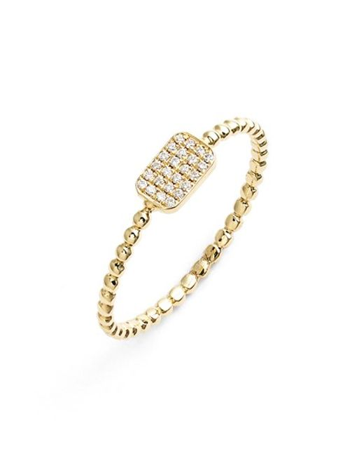 Bony Levy   Yellow 'aurora' Diamond Pave Rectangle Ring (nordstrom Exclusive)   Lyst