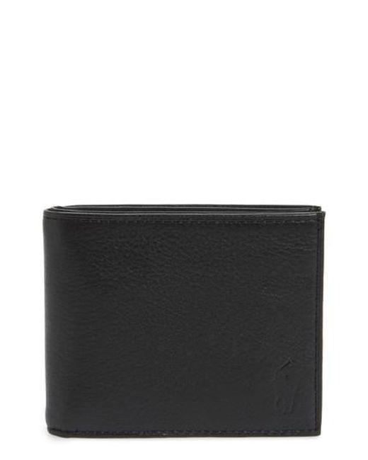 Polo Ralph Lauren - Black Bifold Leather Wallet for Men - Lyst