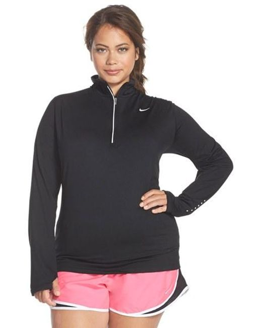 Nike | Black 'element' Dri-fit Half Zip Running Top | Lyst
