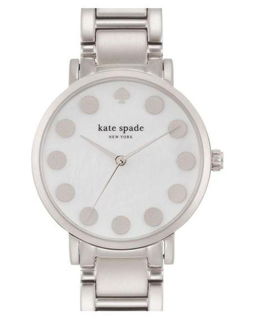 Kate Spade   Metallic 'gramercy' Dot Dial Bracelet Watch   Lyst