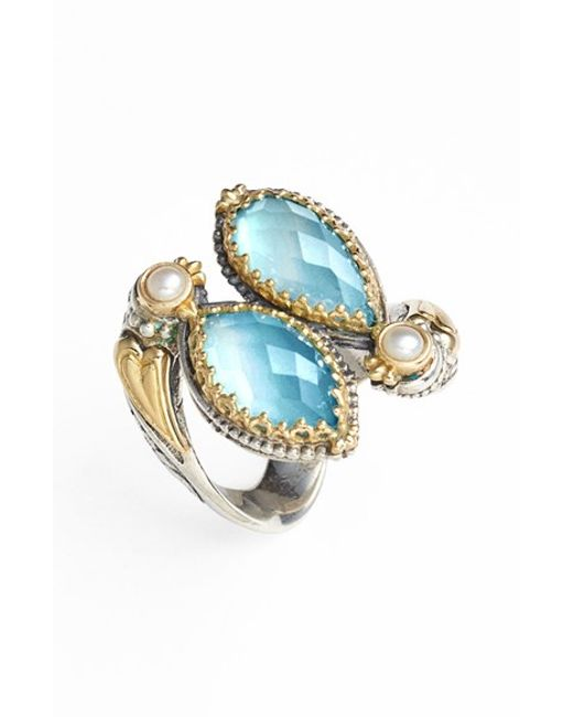 Konstantino   Blue 'amphitrite' Pearl & Semiprecious Stone Cluster Ring   Lyst