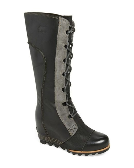 Sorel | Black 'cate The Great' Waterproof Wedge Boot | Lyst