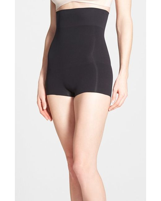 Spanx | Black Spanx Higher Power High Waist Shaping Shorts | Lyst