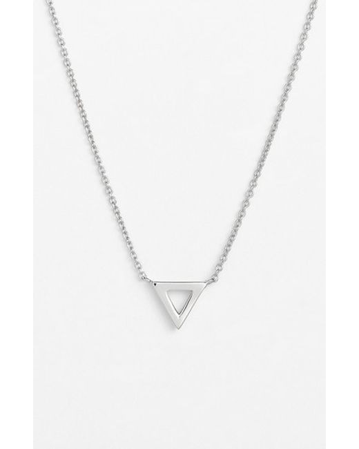 Bony Levy | Metallic Triangle Pendant Necklace (nordstrom Exclusive) | Lyst