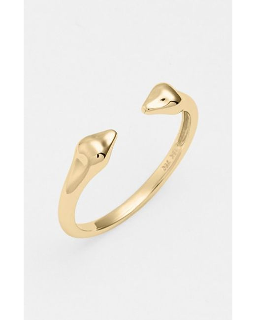 Bony Levy | Yellow 14kt Stackable Open Band Ring (nordstrom Exclusive) | Lyst
