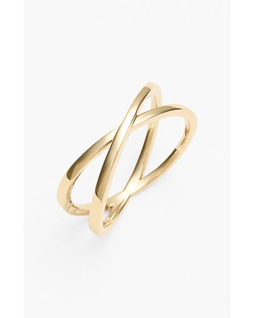Bony Levy | Yellow 14kt Crossover Open Ring (nordstrom Exclusive) | Lyst