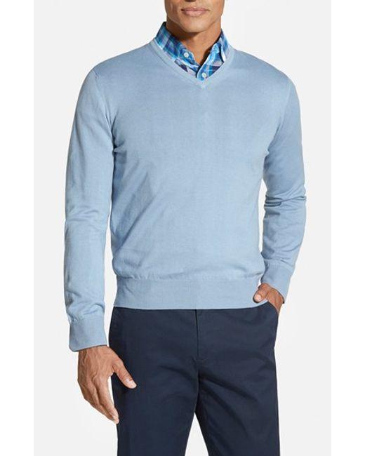 Robert Talbott | Blue Classic Fit V-neck Sweater for Men | Lyst