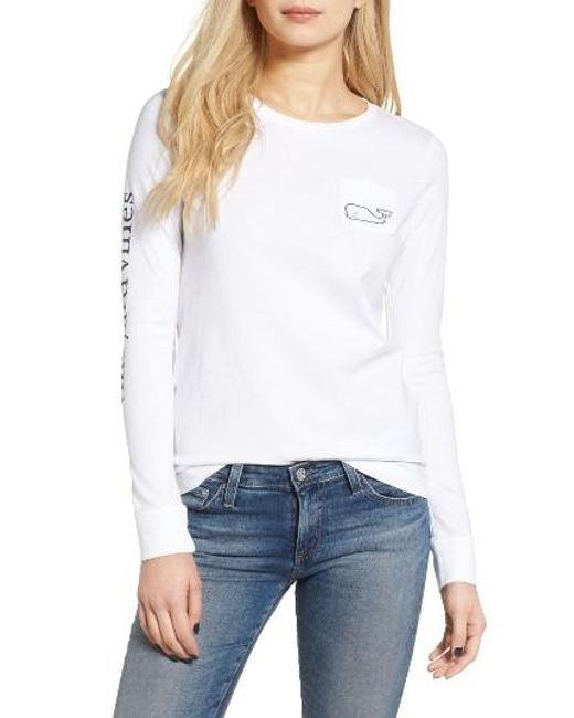 Vineyard Vines | White Whale Print Long Sleeve Tee | Lyst