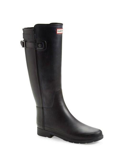 Hunter | Black 'original Refined' Rain Boot | Lyst