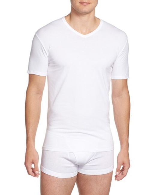 Calvin Klein | 2-pack Stretch Cotton T-shirt, White for Men | Lyst