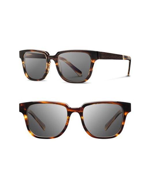 Shwood   Brown 'prescott' 52mm Polarized Acetate & Wood Sunglasses   Lyst