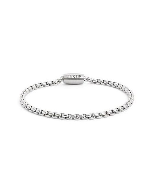 Link Up | Metallic Chain Link Bracelet for Men | Lyst