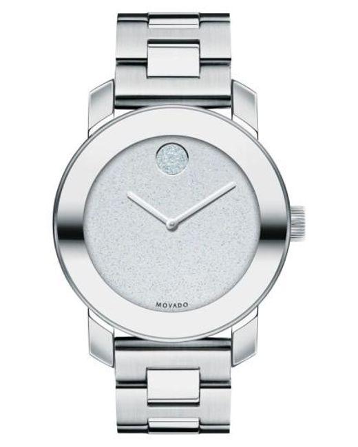 Movado | Metallic Bold Crystal Marker Bracelet Watch | Lyst