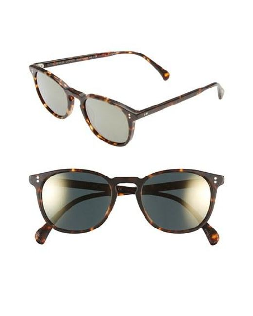 Oliver Peoples | Brown 'finley' 51mm Polarized Sunglasses | Lyst