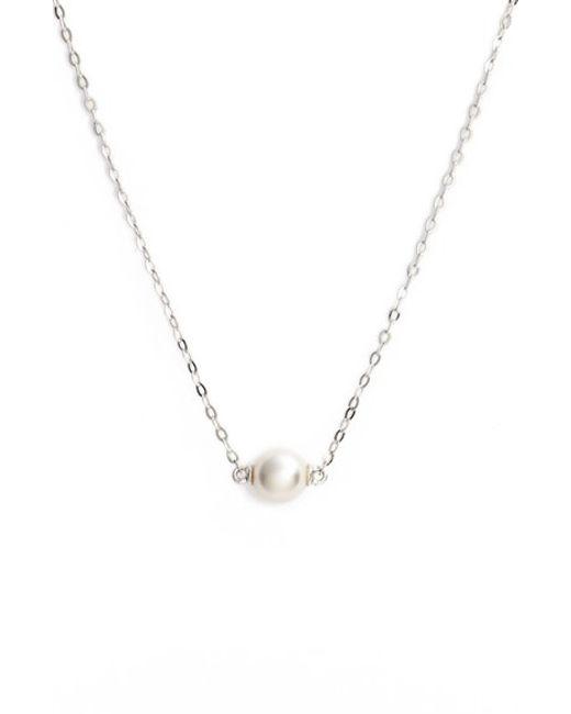 Nadri | Metallic Imitation Pearl Necklace | Lyst