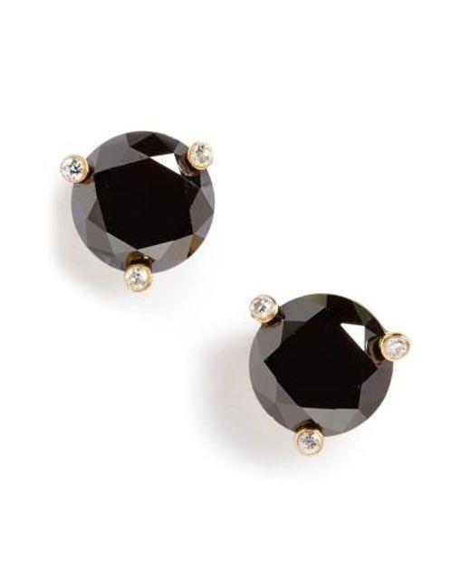 Kate Spade | Black 'rise And Shine' Stud Earrings | Lyst