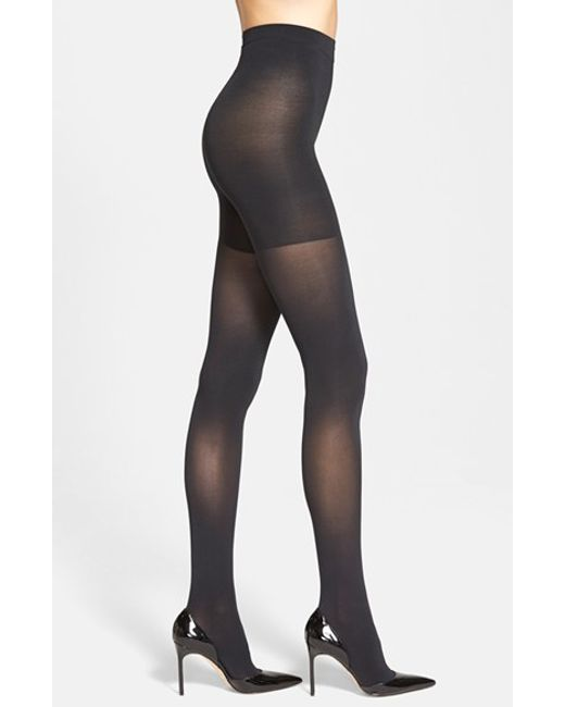 Spanx | Black Spanx 'luxe' Leg Shaping Tights | Lyst
